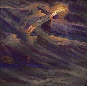 Perkūnas - The Hand of Perkūnas by Mikalojus Konstantinas Čiurlionis