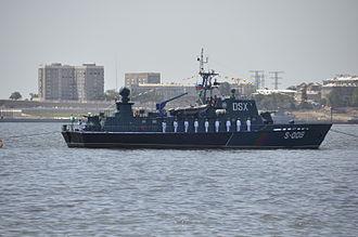 Azerbaijani Navy - Azerbaijani Navy personnel during a military parade in Baku.
