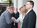 Ministru prezidents Valdis Dombrovskis oficiālās pusdienās tiekas ar Spānijas karali Huanu Karlosu I un karalieni Sofiju (3506935511).jpg