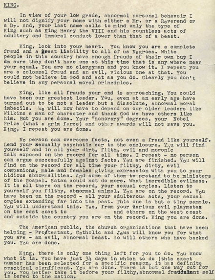 "The ""suicide letter"", mailed anonymously to King by the FBI Mlk-uncovered-letter.png"