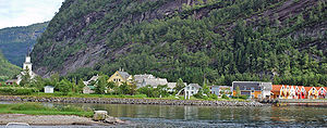 Mo, Hordaland - View of the village