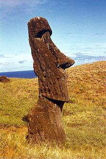 Ενα από τα γλυπτά του νησιού, Μοάι.