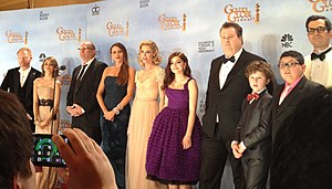 Nolan Gould - Gould with the cast of Modern Family at the 69th Golden Globe Awards