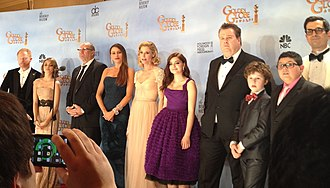 Modern Family - Cast of Modern Family at the 69th Golden Globe Awards in January 2012.