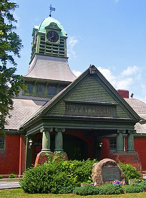 Washingtonville, New York - The Moffat Library, a Registered Historic Place built by Samuel's son David as a gift to his hometown.