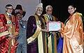 Mohd. Hamid Ansari presenting medals, at the fourth Convocation of Shri Mata Vaishno Devi University, at Katra, in Jammu and Kashmir. The Governor of Jammu & Kashmir (1).jpg