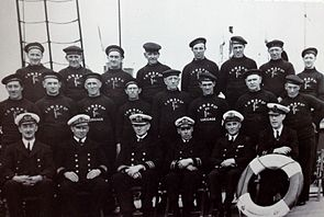 Mona's Queen Officers and Deck Crew, 1940.