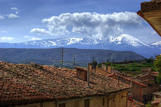 Province of Zaragoza - The Moncayo Massif seen from Tarazona