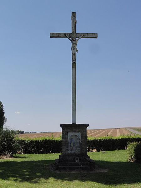 Monceau-le-Neuf-et-Faucouzy (Aisne) oratoire-croix de chemin