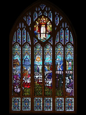 Saint-Viateur d'Outremont Church - The stained glass windows by Guido Nincheri.