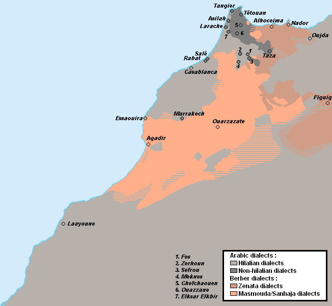 Morocco - Linguistic map