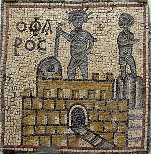 Olbia, Libya - Mosaic Ancient Lighthouse of Alexandria in Olbia, Libya