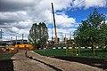 Moscow, construction of Vladykino MCC platform (30944578260).jpg