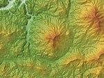 Mount Ōkura (Tottori Pref.) Relief Map, SRTM-1.jpg