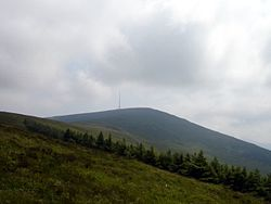 Mount Leinster med TV-antenna