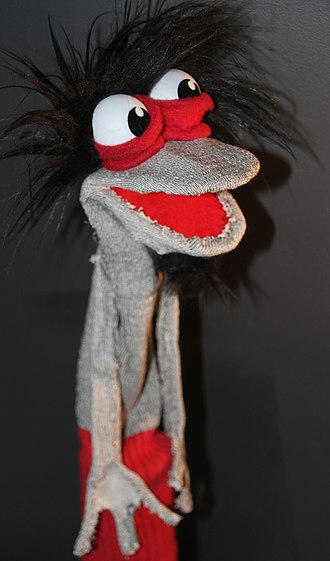 """Sockpuppet (Internet) - A """"sockpuppet"""" was originally a child's toy made from a sock. The one pictured is the creation of Puppetmaster Timmy Turner."""
