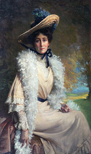 George Percy Jacomb-Hood - Mrs Walter Frith, by George Percy Jacomb-Hood