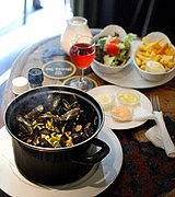 Mussels with fries Amsterdam