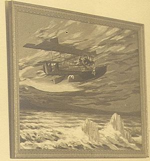 Curtiss NC - Painting of the NC-4 flying over the icy North Atlantic
