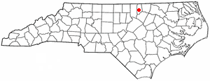 Henderson, North Carolina - Image: NC Map doton Henderson