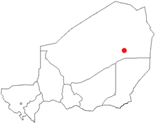 Location of Bilma in Niger