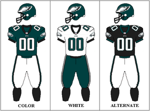 2001 Philadelphia Eagles season - Image: NFCE Uniform PHI