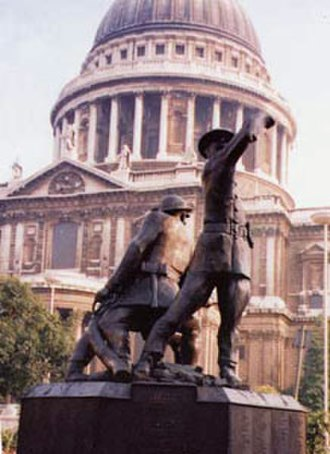 John Mills (British sculptor) - National Firefighters Memorial Commemorating the Firefighters of The Blitz and those who have died subsequently. St Paul's Cathedral London.