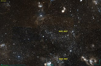 NGC 2027 - NGC 2027, just right of centre, with NGC 2021 just below it