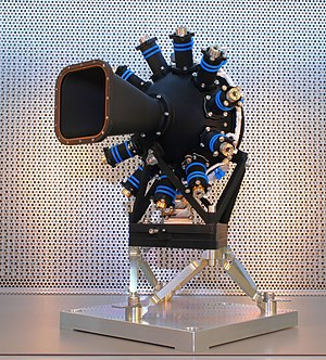 NIRSpec - The Calibration Assembly, one component of the NIRSpec instrument which will form part of the James Webb Space Telescope, at University College London prior to integration.