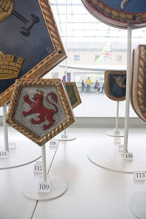 HMS Devonshire (39) - Ship's badge in the National Maritime Museum