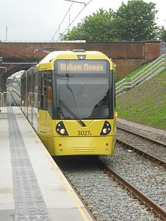 Newton Heath and Moston tram stop Manchester Metrolink tram stop