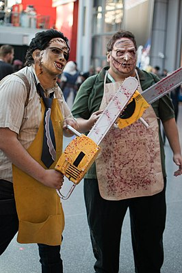 Cosplay Leatherfaces tijdens NYCC 2016.