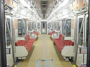 Nagoya Municipal Subway N1000 series - Image: Nagoya Subway N1000 interior Fujigaoka 20071111