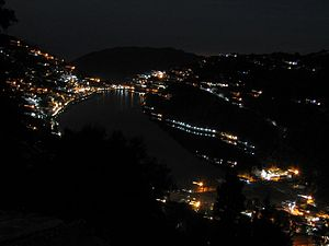 Nainital - Naini Lake view at night