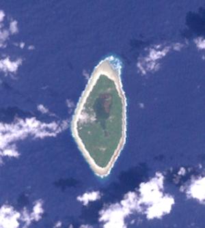 Nanumanga - NASA Landsat visible color image