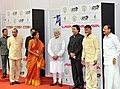 Narendra Modi at foundation stone ceremony of Shri Venkateswara Mobile & Electronics Manufacturing Hub, in Tirupati, Andhra Pradesh. The Governor of Andhra Pradesh and Telangana, Shri E.S.L. Narasimhan (2).jpg