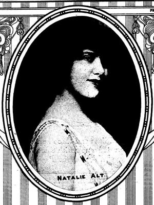 Natalie Alt - Natalie Alt, on the cover of the New York Clipper 1920