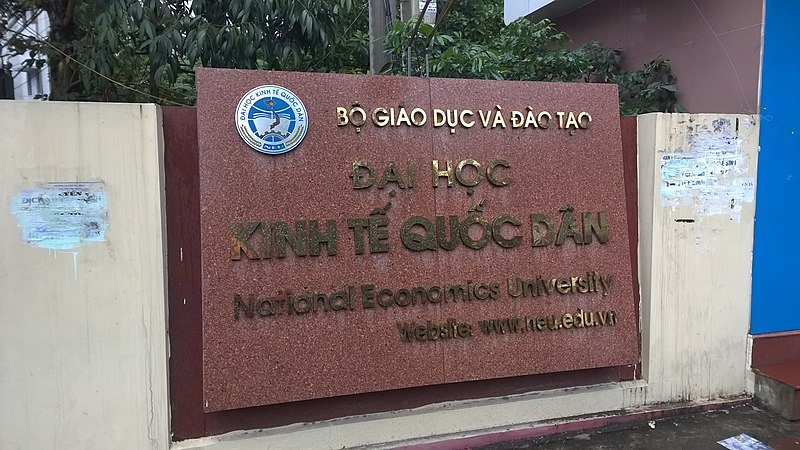 File:National Economics University sign 1.jpg