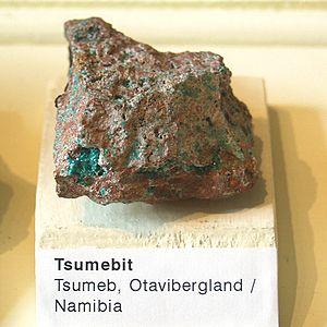 Naturkundemuseum Berlin - Tsumebit - Tsumeb, Otavibergland, Namibia.jpg