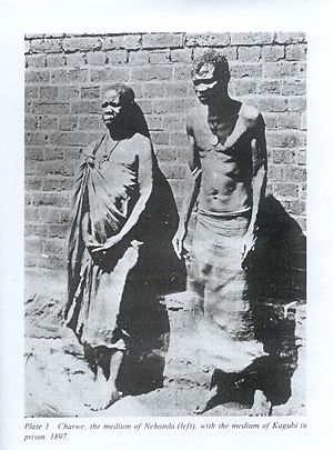 Nehanda Nyakasikana - Nehanda Nyakasikana (left) and Sekuru Kaguvi (right), after their 1897 capture