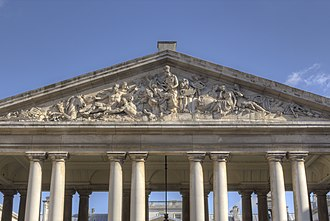 Coade stone - Nelson Pediment, Old Royal Naval College, Greenwich