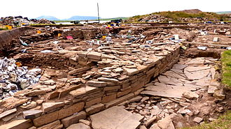 Ring of Brodgar - Neolithic settlement at Brodgar, (August 2014)