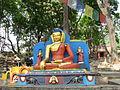 Nepal - Kathmandu set 2 - 005 - seated Buddha at Monkey Temple (Swoyambhunath) (588681590).jpg