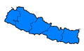 Nepal regions flood hit between July 3 and August 15 2007.png