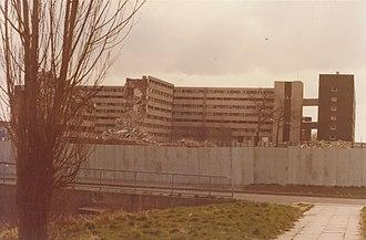Netherley, Liverpool - Image: Netherley Liverpool looking towards Paveley Bank November 1983