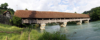 Bremgarten bei Bern - The Neubrügg was built in 1466 to replace a ferry over the Aare at Bremgarten
