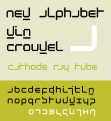 A Alphabet Letter Wim Crouwel (ontwerper...