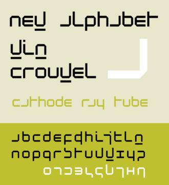 Wim Crouwel - Type face ''New Alphabet''