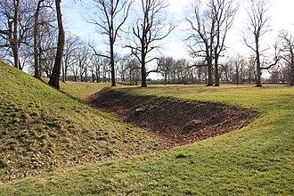 Newark, Ohio - Newark Earthworks mound, Hopewell culture, 100 AD-500 AD