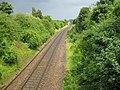 Newmarket, Railway line at the Woodditton Road bridge (1) - geograph.org.uk - 881350.jpg